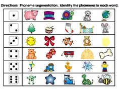 Variety of hands on activities to teach phoneme segmentation for words with 2, 3, and 4 phonemes.