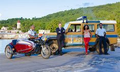 Death in Paradise: Officer Dwyane Myers, DI Richard Poole, DS Camille Bordey & Officer Fidel Best