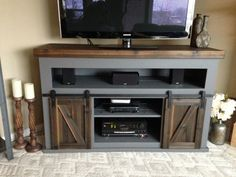 19 Amazing Diy TV Stand Ideas You can Build Right Now 50 Cool TV Stand Designs for Your Home tv stand ideas diy, tv stand ideas for living room, tv stand ideas bedroom, tv stand ideas black, tv Home Tv Stand, Diy Tv Stand, How To Build Tv Stand, Pallet Entertainment Centers, Diy Entertainment Center, Entertainment Products, Tv Diy, Bedroom Tv Stand, Barn Door Tv Stand