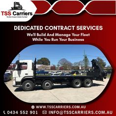 TSS carriers provide dedicated contract services that will allow you to have the peace of mind of an efficient and fully committed fleet to the delivery of your goods. #Tsscarriers #Transport #DedicatedContractServices #cranetruck #transportationservicesinsydney #hiabservices #Rigids #Semitraliers #spreaderbars #pipegrabs #24hourscraneservice #truckloadservices #crawlercraneservicesinsydney #ContractServices Truck Mounted Crane, Crawler Crane, Transportation Services, New South, Cool Trucks, Peace Of Mind, Australia, Delivery