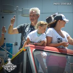 A photo from my coverage of the Los Angeles Kings Victory Parade and Rally.