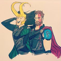 Loki's hair is longer than Thor's XD