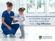 It's the little things we do in this world that make a big difference. Nursing