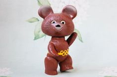Celluloid Misha Bear / RARE Soviet by LittleMonstersStore on Etsy