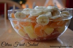 """Citrus Fruit Salad - Love this for a healthy and easy Christmas or Thanksgiving side dish! This recipe is so stinkin' easy and I love the """"secret ingredient"""" used to make it creamy."""