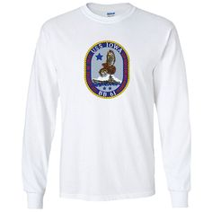 USS Iowa White Long Sleeve Shirt now available! Show your Navy Service pride with this White Performance Long Sleeve Shirt. This performance shirt features 100% Polyester antimicrobial, moisture wicking fabric that will keep you cool, dry, and comfortable. THIS IS A PERFORMANCE FABRIC SHIRT, NOT COTTON. Designed, Printed & Sublimated in the USA -Fabric Imported.