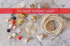 diy bead pendant light