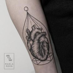 Dotwork Cage Heart Tattoo by Marla Moon