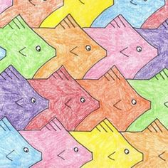 Mix math and art with my Tessellation project. #tessellation #escher