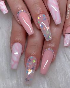 The most popular Coffin Nails Designs come. You can draw great inspiration from each of these beautiful nails! Get ready to save it all! Aycrlic Nails, Swag Nails, Manicure, Glitter Nails, Coffin Nails, Neon Nails, Summer Acrylic Nails, Cute Acrylic Nails, Cute Acrylic Nail Designs