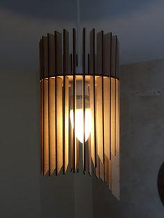 Cascade Design Laser Cut Wooden Hanging Lamp Shade