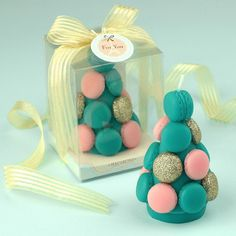Macaron Tower Design Candle Gift