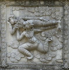 186 Hanuman asked Phra Rama to Return, at Wat Phananchoeng, Ayutthaya Jai Hanuman, Label Image, Indian Music, Hampi, 12 Image, Indian Gods, Durga, Hinduism, Cover Pages