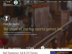 Three Gorey venues under one roof - Nel Sweenys & For more information on events, booking functions and opening times, check out their new website: Sports Games, Events, Times, Website, Check, Design, Sports, Pe Games