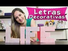 Letras Decorativas com Caixa de Pasta de Dente | Passo a Passo – Recicla e Decora