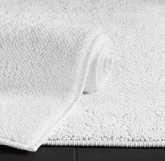 Master Bathroom: Turkish Cotton Loop Bath Rug in White. Just imagine stepping out of the shower onto this soft textural bath rug! It's the same color as the towels, so it will blend right in with the set.