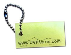 """UVPaqlite Gear Tag- Attach this glow in the dark tags to items you want to find the in dark such as: backpacks, gear, keys, kids, EDCs, Bug Out Bags 1 3/4"""" length x 3/4"""" wide"""