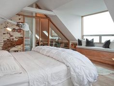 master bedroom attic conversion, private residence, circa early 1900s; San Francisco, CA.