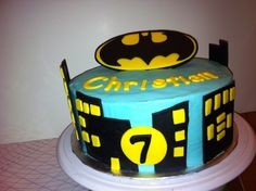 Batman birthday cake by yuMM