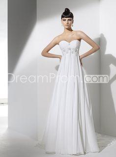 Gorgeous Empire Sweetheart  Rhinestones Embellishing Wedding Dresses