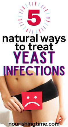 Here are several natural ways to treat yeast infections! These natural yeast infection remedies work fast to stop the symptoms of and restore balance to your lady parts. Yeast infection in women is common, but there are many natural remedies you can use to get rid of it, and many things you can do to avoid yeast infections in the future. Try one or more of these remedies today to finally get yeast infection relief from itching and other symptoms! #yeastinfection #homeremedy #nourishingtime