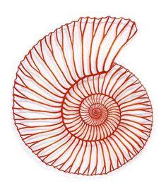 Scherenschnitt, Silhouetten, Plotter Meredith Woolnough, Red Ammonite, embroidery thread and p Paper Embroidery, Learn Embroidery, Embroidery Patterns, Machine Embroidery, Doily Patterns, Dress Patterns, Tatting Patterns, Embroidery Stitches, Paperclay