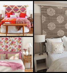 Cabeceros de Cama: Encuentra aquí + 50 Diy para hacer el tuyo propio Ideas Decorar Habitacion, Bedroom, Macrame, Handmade, Furniture, Home Decor, Rustic Walls, Decorate Walls, Decorations