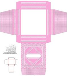 Don't Eat the Paste: Printable Lacy Boxes