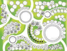 Free Garden Plans Home Interior and Exterior Design Landscape Architecture Drawing, Landscape Design Plans, Garden Design Plans, Landscape Drawings, Layout Design, Design Ideas, Design Design, Parking Design, Public Garden
