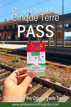 Do you plan to visit the popular 5 villages that make up the Cinque Terre in Italy? But how can you travel on the Cinque Terre train and what is the Cinque Terre Pass? I explain how to use the Cinque Terre Card to travel by train to the Cinque Terre train station in this ultimate guide for Cinque Terre Train Travel. #train #cinqueterre #italy