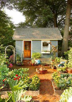 Quaint little minimalist house with a big garden. ♡ Live simply.