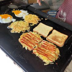 Read all about Korean street toast, a delicious take on the breakfast egg sandwich. Find out how to Best Breakfast Sandwich, Toast Sandwich, Breakfast Recipes, Breakfast Ideas, Fast Food Breakfast, Homemade Breakfast, Egg Recipes, Cooking Recipes, Cooking Fish
