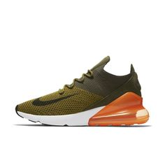 Nike Air Max 270 Flyknit Men's Shoe Size 14 (Olive Flak) Reciclagem De Garrafas De Plástico, Tênis Air Max, Tênis Nike, Nike Air Max, Sapatos Casuais, Estilo Casual Para Homens