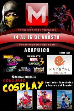 Torneo Nacional de Videojuegos Marvelmania 2015 - Acapulco, Guerrero, México, 14 al 16 de Agosto 2015