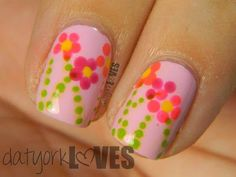 datyorkLOVES: 30 Day Flower Nail Art Challenge: Mother's Day Bouquet