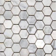 Item #: White Carrara Hexagon Mosaic (P) Manufacturer: Nuit Grave Series: Hexagon Mosaics Color Group: White / Cream SKU No.: MOSHEXPOLCARRARA Retail Price:  $15.90 Our Price:  $9.66  per Pc.    Savings: 40%
