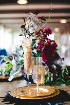 Rich plum and navy wedding inspiration | Photo by Izzy Hudgins Photograpny