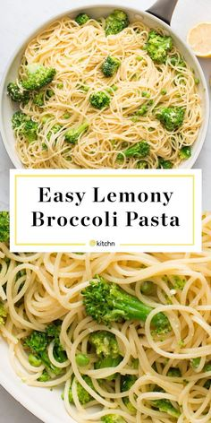 Lemony Broccoli Pasta Recipe Need recipes and ideas for quick and easy kid friendly dinners even picky eaters and toddlers will love This easy healthy vegetarian pasta di. Healthy Pastas, Healthy Dinner Recipes, Cooking Recipes, Lemon Recipes Dinner, Kitchen Recipes, Vegan Recipes Simple, Simple Pasta Recipes, Vegan Recepies, Cooking Corn