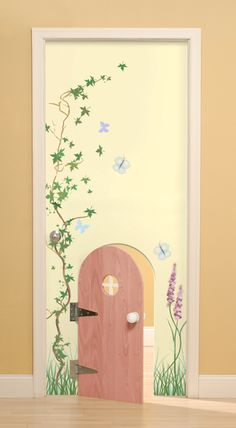 awesome children's bedroom doors.. so cute