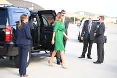 Melania Trump chose a dress from Samantha Cameron's label, Cefinn. Melania Trump's extensive wardrobe largely consists of high-end designs from established labels like Dolce & Gabbana and Michael Kors. Well, that's mostly because while Cameron's a newcomer in the fashion world, she's been in the spotlight