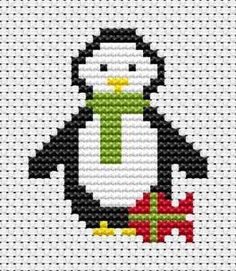 Fat Cat Cross Stitch - Penguin cross stitch kit