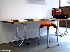 Paneeltafel met buisframe onderstel