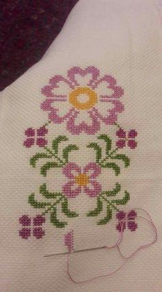 The most beautiful cross-stitch pattern - Knitting, Crochet Love Cross Stitch Letters, Cross Stitch Borders, Cross Stitch Samplers, Modern Cross Stitch, Cross Stitch Flowers, Cross Stitching, Funny Cross Stitch Patterns, Cross Stitch Freebies, Cross Stitch Designs