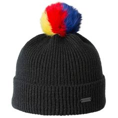 8b421875623 Two Tone Thick Knitted Winter Pom Beanie
