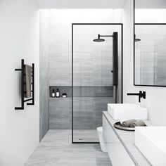 Bring modern luxury and a spacious, spa-like feel to your contemporary bathroom with the VIGO Fixed Glass Shower Screen. Modern bathroom Ideas and Design - Bathroom Inspiration - Bathroom Remodel Bathtub Doors, Frameless Shower Doors, Modern Shower Doors, Glass Bathtub Door, Glass Door, Modern Bathroom Design, Bathroom Interior Design, Minimal Bathroom, Bath Design