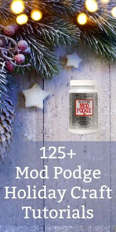 Here is a huge collection of Mod Podge holiday crafts (Halloween, Thanksgiving, Christmas) that you'll love. Great DIY projects with options for kids to make and dollar store crafts. Make them to sell and for gifts! via @modpodgerocks
