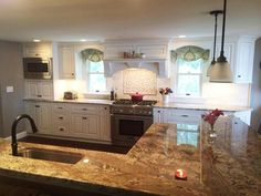Beautiful Painted Cabinetry with Granite Counters, Nester's Kitchen & Bath, Intervale, New Hampshire