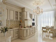Дизайн интерьера кухни в классическом стиле / Дизайн-студия BUENA VIDA