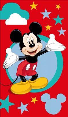 Disney Mickey Mouse Etoile - Strandlaken - 70 x 120 cm - Multi