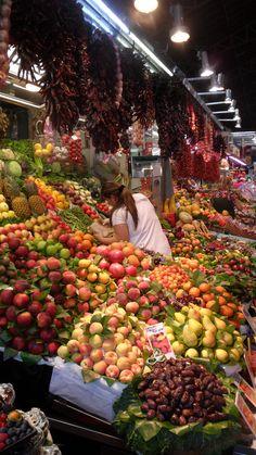 La Boqueria Market, Barcelona. More